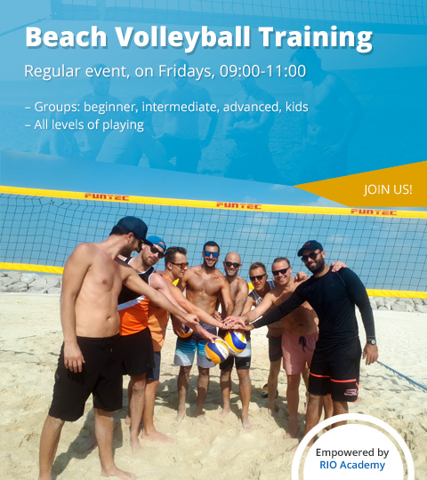 Beach volleyball training