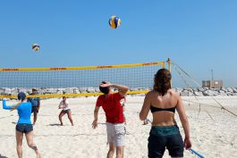 Group volleyball training