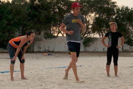 Individual and team beach volleyball training