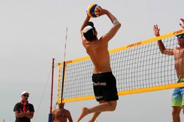Professional volleyball teams training, Dubai